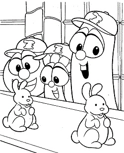 veggie tales coloring pages 9
