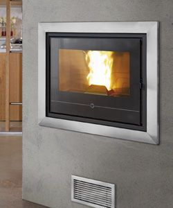 Wood pellet fireplace insert - 490 - THERMOROSSI