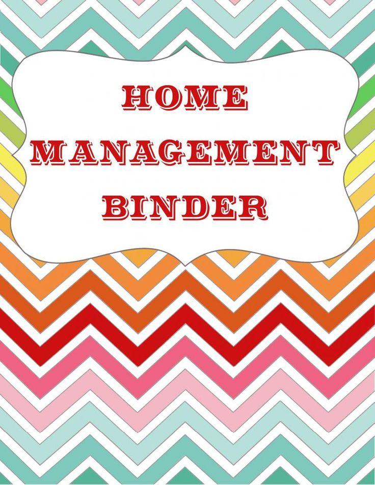 Let 39 s get organized home management binder free for Home planning binder