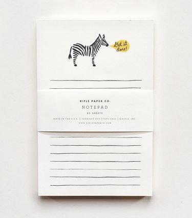 Pretty notepad from Rifle Paper Co., $8