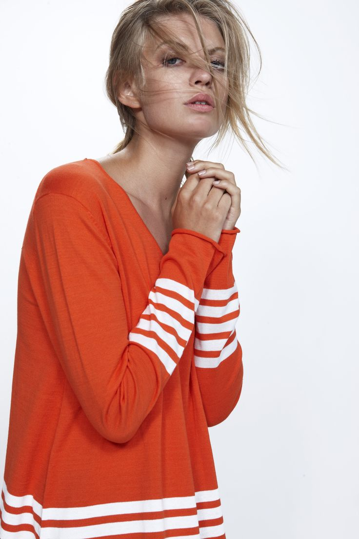 Delight Sweater - colour tomato 100% cotton http://www.nineteen46.co.nz