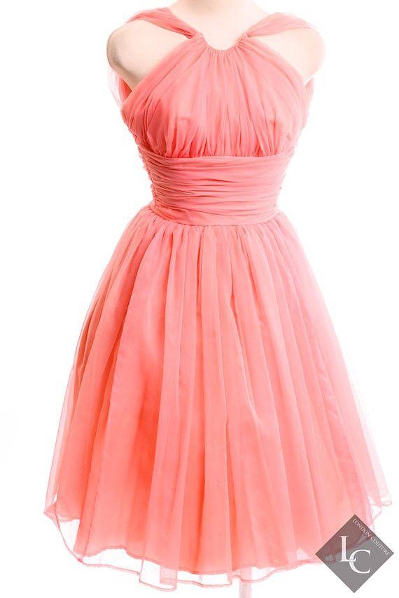 Emma Domb Vintage Pink 50's Dress Size Small