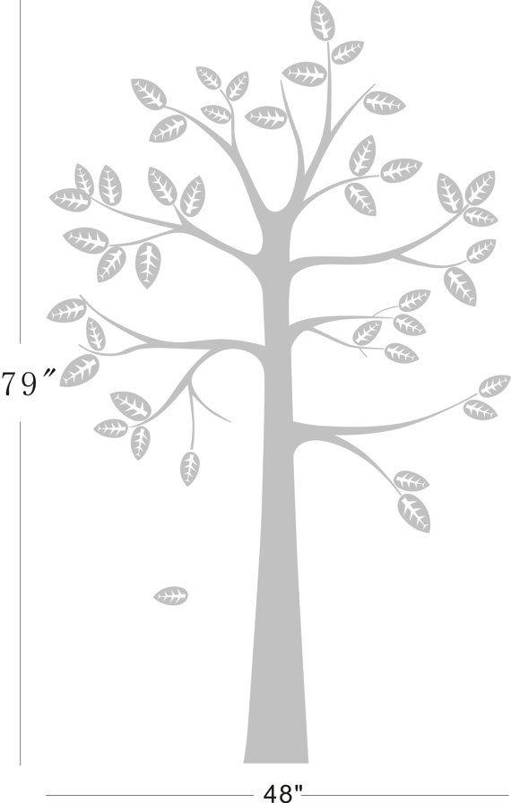 vinilo simple niños guardería estante árbol pared por haitaohot