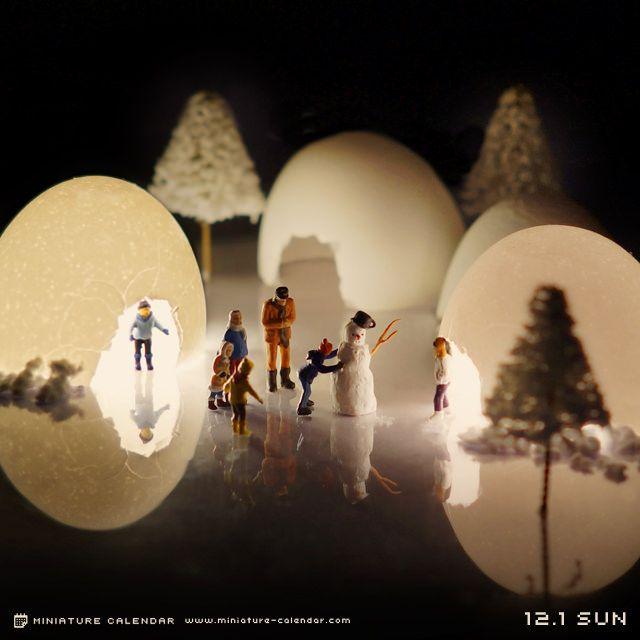 Snow hut - Tatsuya Tanaka's Daily Miniature Photo Project