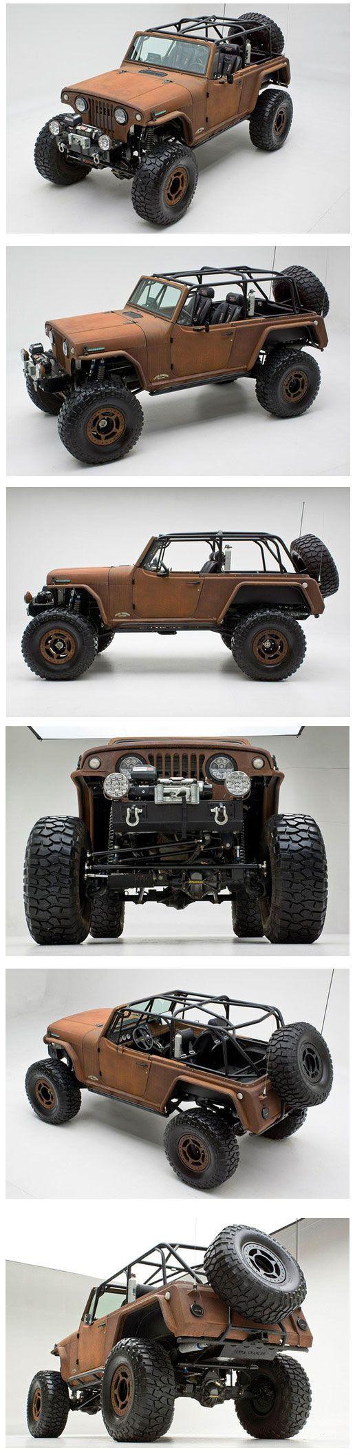 Rusted Terra Crawler. 1969 Jeepster Commando