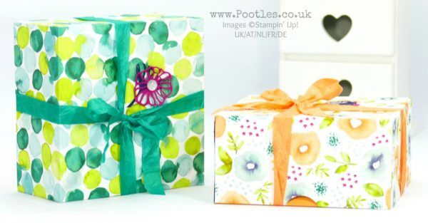 Stampin' Up! Demonstrator Pootles - Enormous Fold Flat Lidded Box using Naturally Eclectic DSP