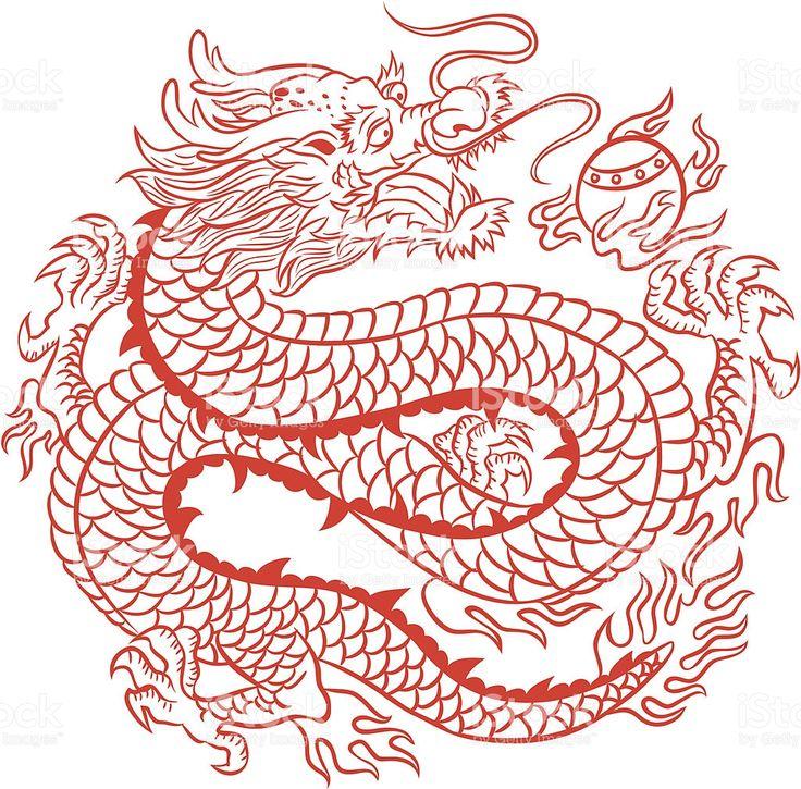 Chinesischer Drache Lizenzfreies vektor illustration