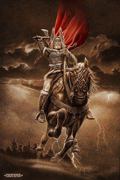 In Slavic mythology, Perun (Cyrillic: Перун) is the highest god of the pantheon and the god of thunder and lightning.Slavic mythology by Igor Ozhiganov | Slavorum