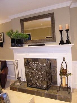 25 best ideas about mirror above fireplace on pinterest for Over fireplace decor