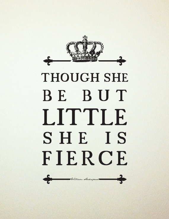 Shakespeare Quote Girl's Room Art //Unique Baby by LADYBIRDINK, $18.00