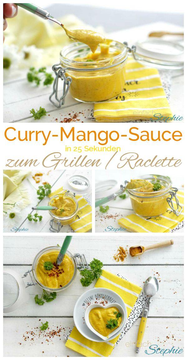Fruchtige Curry-Mango-Sauce zum Grillen oder Raclette