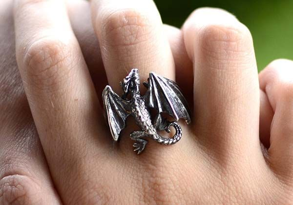Handmade Dragon Silver Ring Inspired by Game of Thrones
