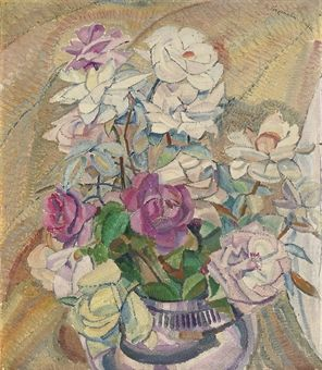 This is felt in Cossington Smith's images of flowers growing, the subject of a number of small works painted in the late 1920s and early 1930s. Description from christies.com. I searched for this on bing.com/images