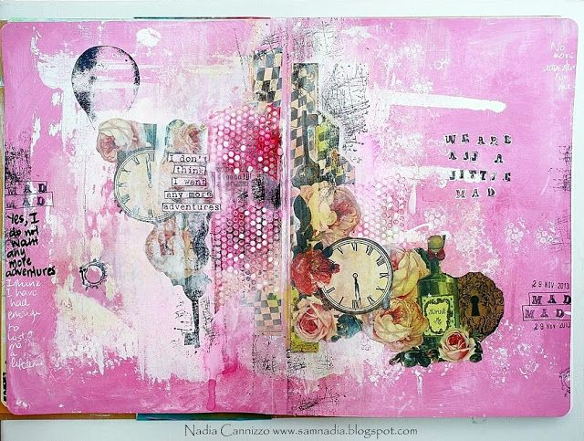Marion Smith Designs: Art Journal Page by Nadia using Mad Tea Party
