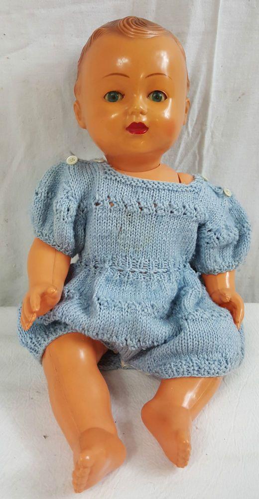POUPEE Ancienne MICHEL Modes & TRAVAUX 1954 Celluloid SNF 40 + Vetements doll L