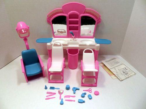 Barbie Vintage Hair Salon Dryers Chairs Plenty Of Extra Ebay