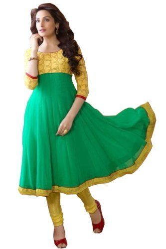 Latest Designer Yellow and Aqua Green Long Anarkali Dress, http://www.junglee.com/dp/B00KJEBQSC/ref=cm_sw_cl_pt_dp_B00KJEBQSC