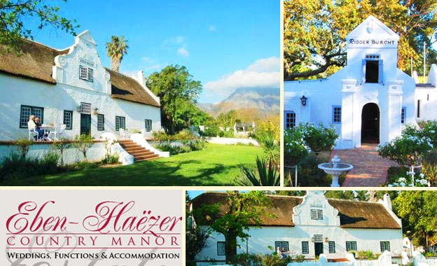 Today's Offer:Deluxe Stay for 2 PLUS Breakfast for R449 per night at Eben-Haézer Country Manor, Paarl (value R980) http://bit.ly/xWZwt9