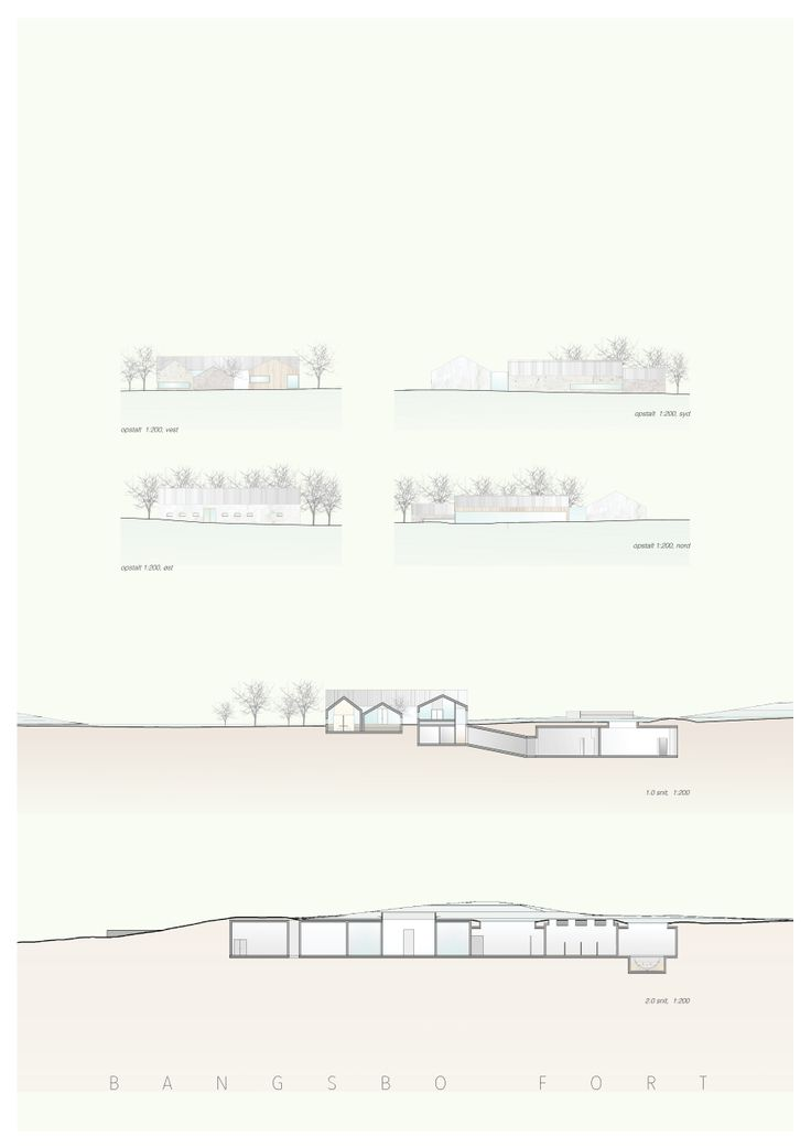 5'th semester project - museum.  Bangsbo Fort, Fredrikshavn