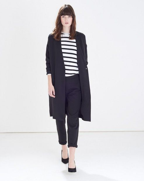 Black Coma Duster Jacket