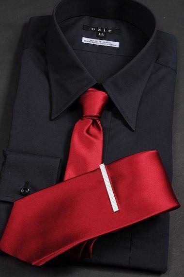 黒シャツ&赤ネクタイ!Black shirt and Red tie #mens #shirtstyle #shirt coordinate #mensfashion #dress shirt #Tie #necktie #メンズファッション #コーディネート #ワイシャツ #ネクタイ