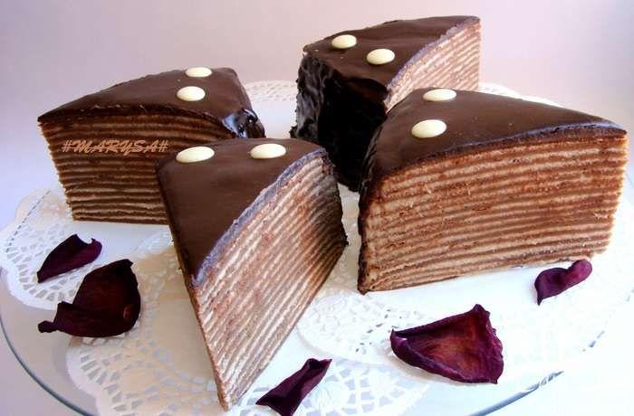 Шоколадный блинный пирог