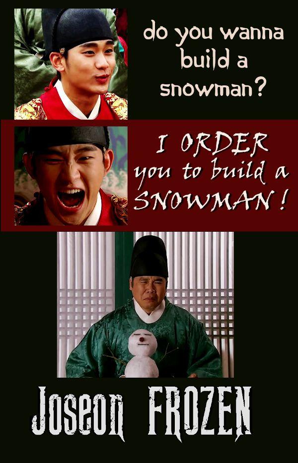 FROZEN - Joseon style. Kim Soo Hyun - The Moon Embracing the Sun  - Do you wanna build a snowman?  <3 Korean Drama <3