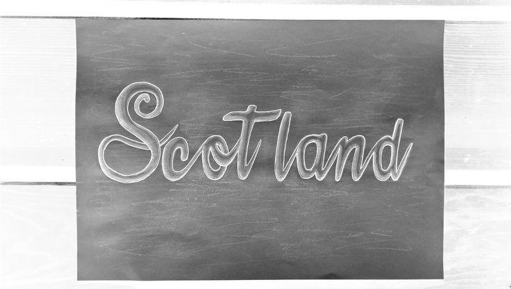 Scotland #Scotland #art #word #grey #silver