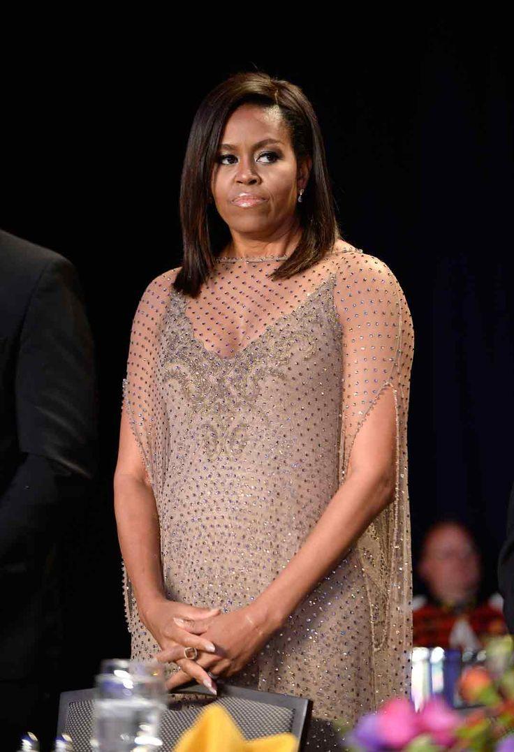 Michelle Obama y Barack Obama - Cena Corresponsales Casa Blanca