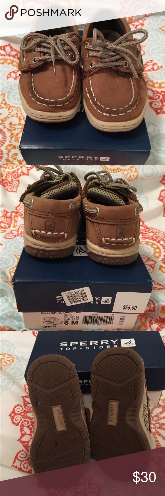 Toddler Sperry Top-Siders Toddler boy Sperry Top-Siders. Size 6. Great condition as they were only worn a few times. Sperry Top-Sider Shoes