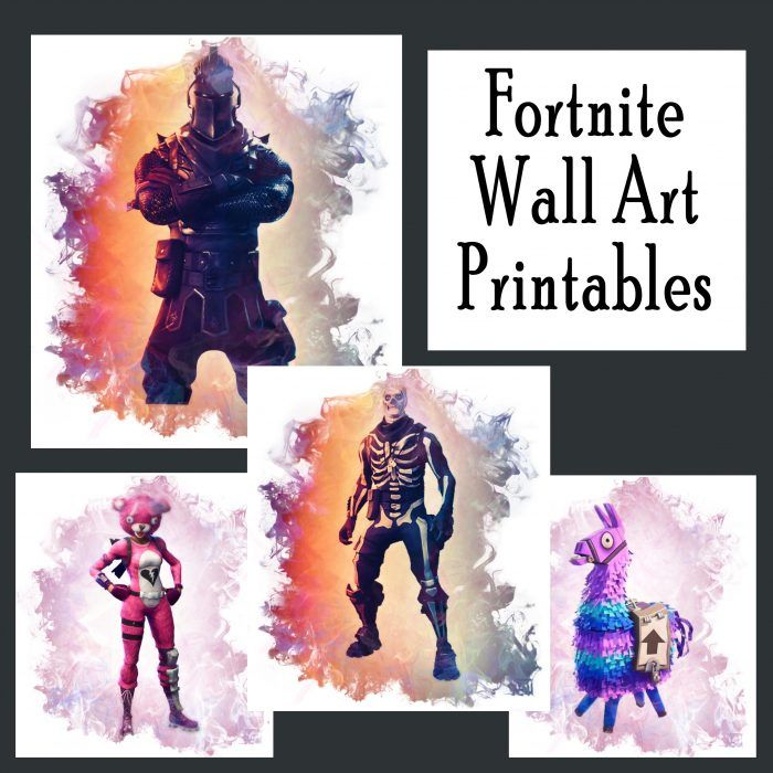 photograph about Fortnite Birthday Card Printable identify Cost-free Fortnite Printable Posters (Preset of 4!) Absolutely free