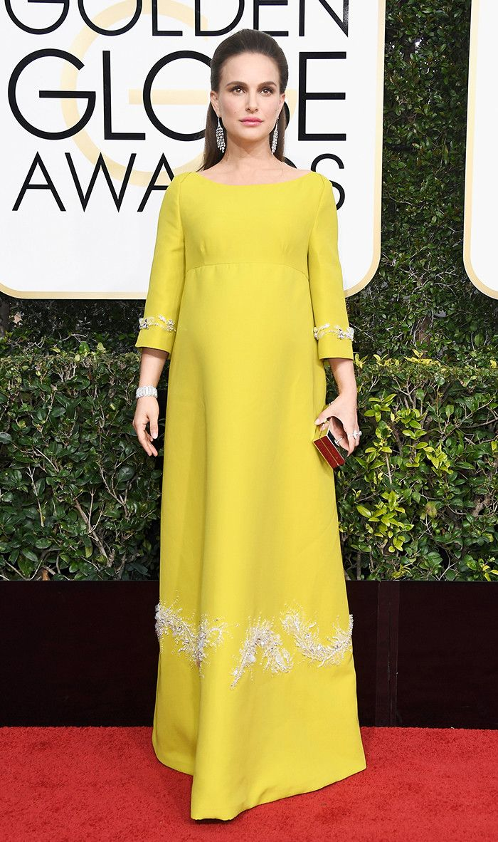 Golden Globes 2017: The Best Red Carpet Looks via @WhoWhatWear- Natalie Portman in Prada