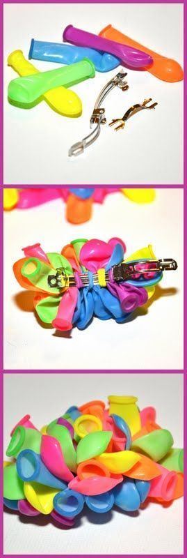 DIY : Balloon Hair Clip