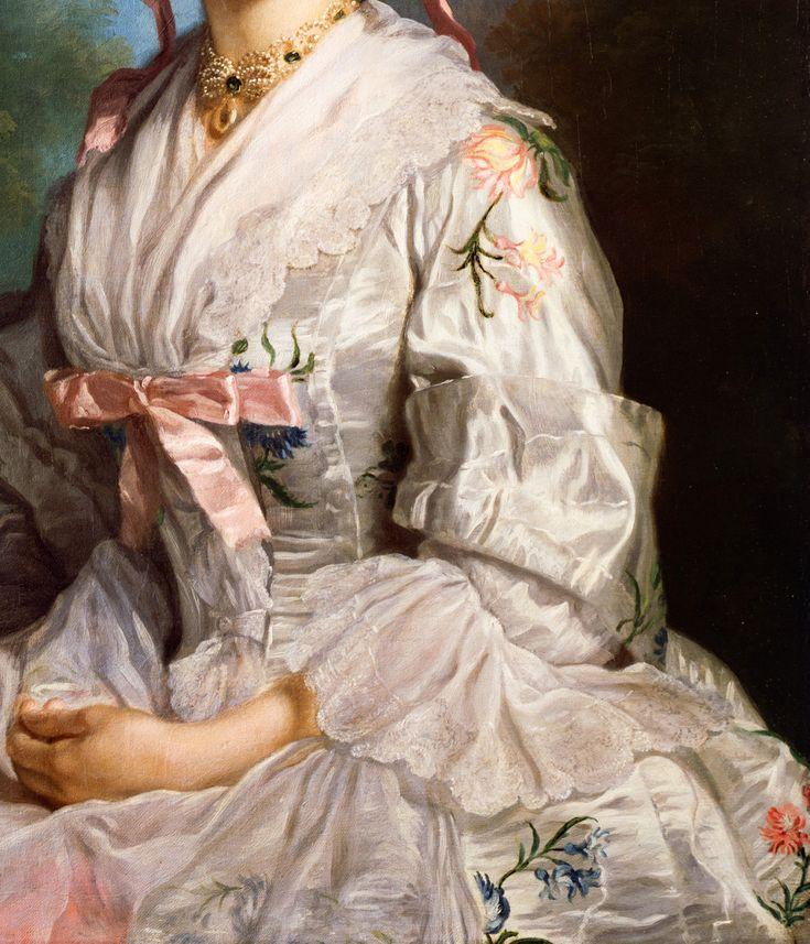 "jaded-mandarin: "" George Knapton. Detail from Portrait of Lucy Ebberton, 1750. """