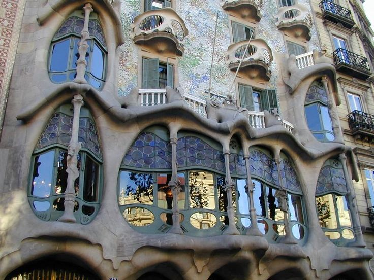 Barcelona spain casa batllo facade 1904 1907 for Architecture gaudi