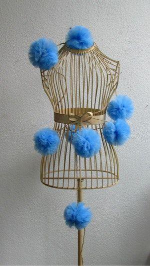 Ghirlanda di Pom Pom azzurri