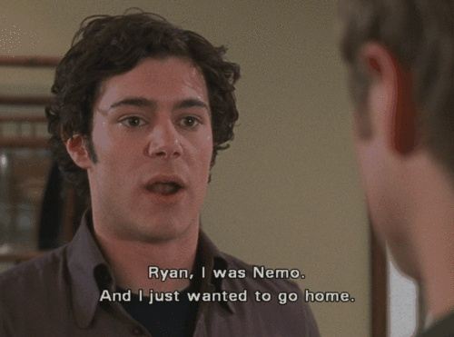 This is my most favorite episode of the OC, I'm breaking out my DVD collection.