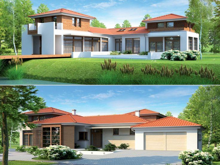 Dom ma czytelny układ funkcjonalny, a rozrzeźbiona bryła czyni go bardzo atrakcyjnym wizualnie.