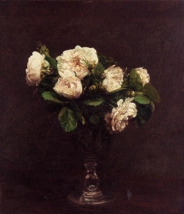 White Roses - Henri Fantin-Latour (1875)