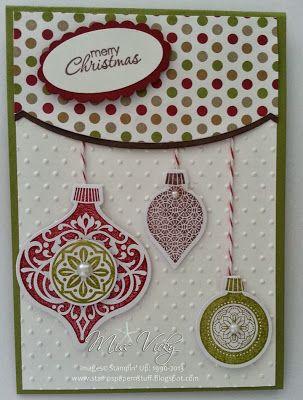 Stamp Set - Ornament Keepsakes Framelits - Holiday Ornaments, Adorning Accents Stampin' Up!®