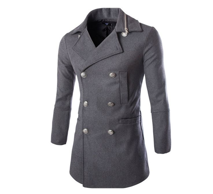 Men's Double Breasted Cashmere Wool Coat