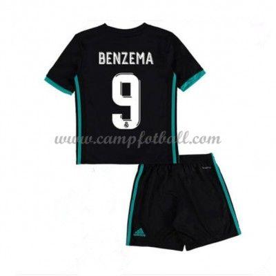 Fotballdrakter Barn Real Madrid 2017-18 Karim Benzema 9 Borte Draktsett