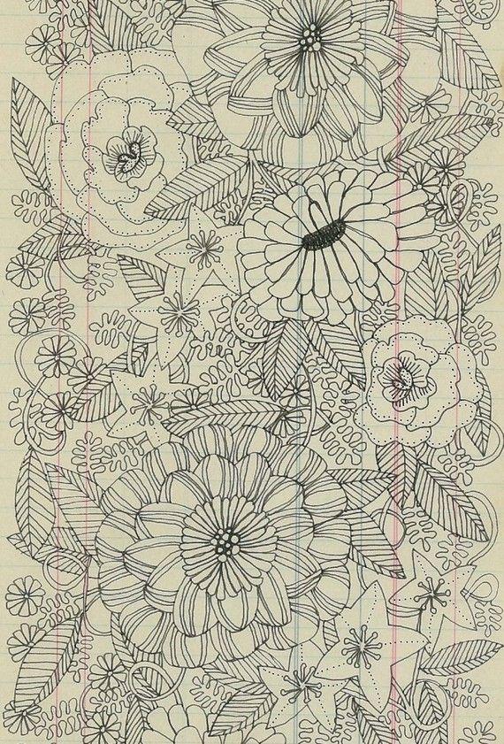 flower garden matte archival print