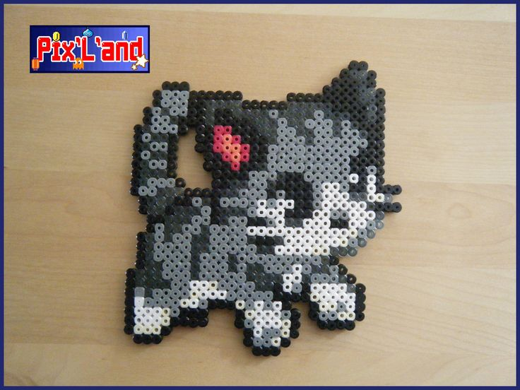 Kitty cat hama perler beads by Pix-l-and