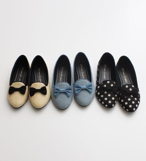 Ribbon flat shoes:
