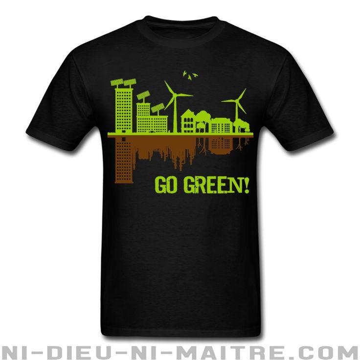 T-shirt homme (15.69$ ou 12.66€) Environnementalisme - Luttes vertes - Pollution - Anti-nucléaire - Pétrole - Changements climatiques - Planète - Anarchie verte - OGM - Écologie - Eco-terrorisme - Énergie verte - Anticiv - Anarcho-primitivisme - Développement durable - Décroissance - Ni-Dieu-Ni-Maitre.com
