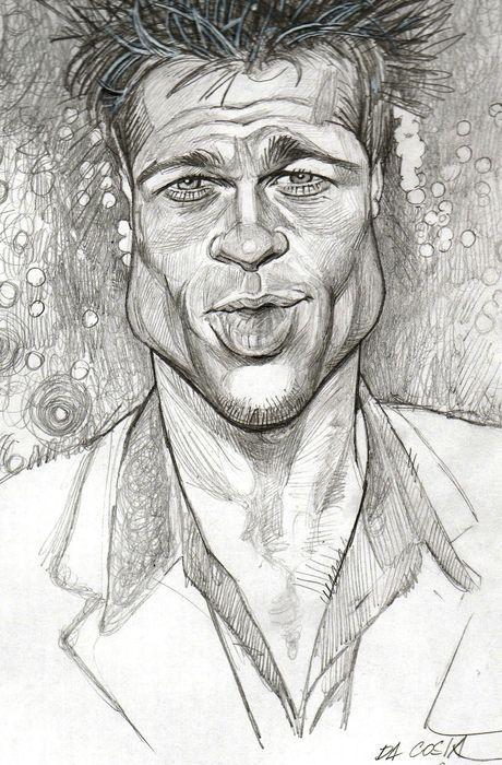 [ Brad Pitt ]  - artist: Charles Da Costa - website: http://chadacosta44.blogspot.com