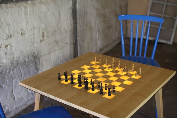 The Scandinavian Chess Table! Start of the game!