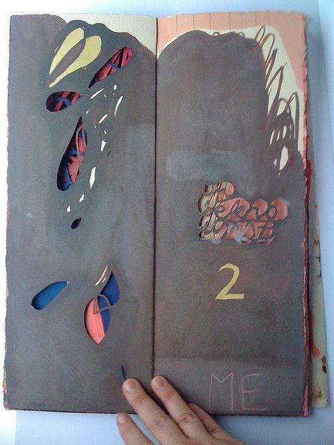 Jennifer Brook hand-bound sketchbook Arches, parchment, ink, graphite, wax 38 x 15 x 2 cm 2008