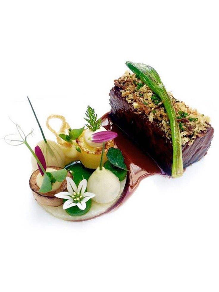 Wagyu short rib, celery, onions, and leeks by chef Jan Hartwig of Atelier in…